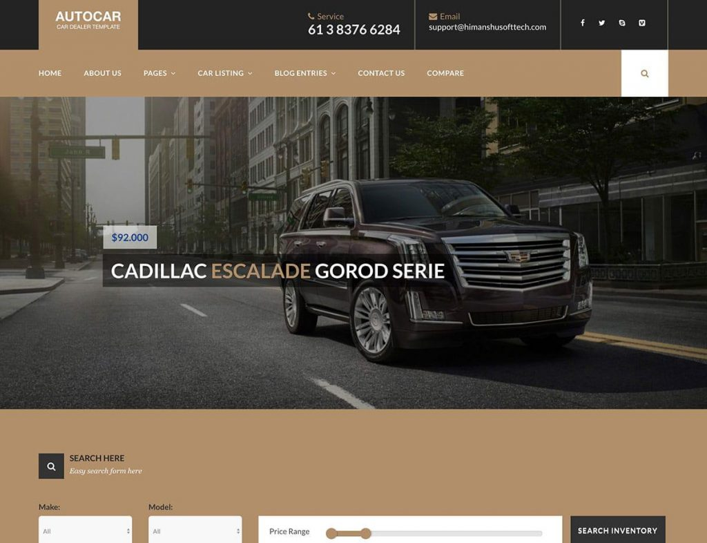 Auto Car Best WordPress theme