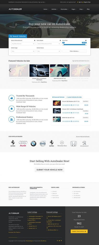 AutoDealer Best Theme For WordPress