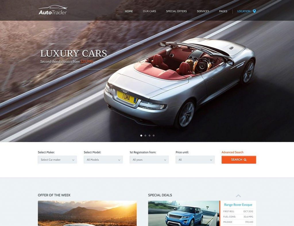 AutoTrader Best WordPress Theme for Car Dealers