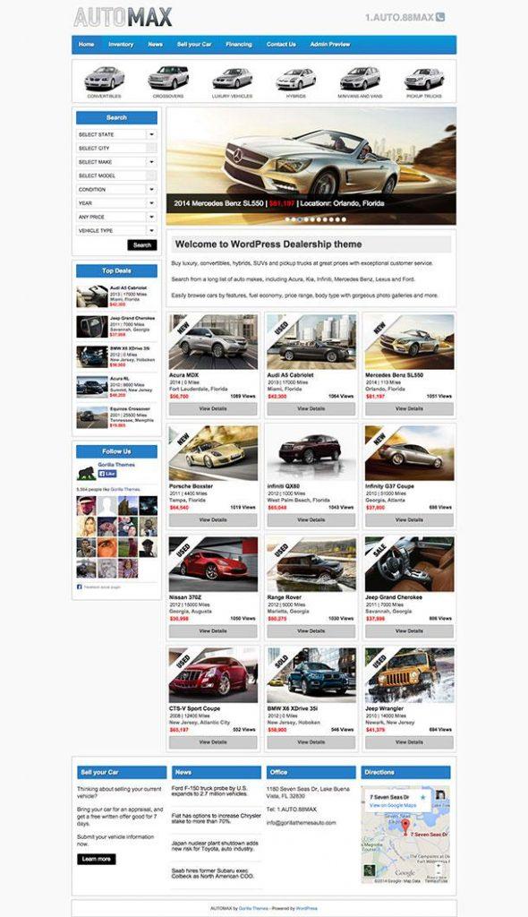 Automax Best WordPress Theme