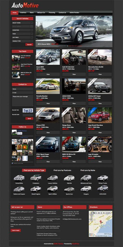 Automotive best theme for wordpress