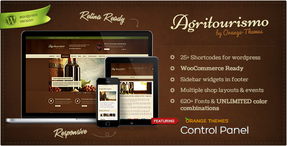 Agritourismo Wine WordPress Themes