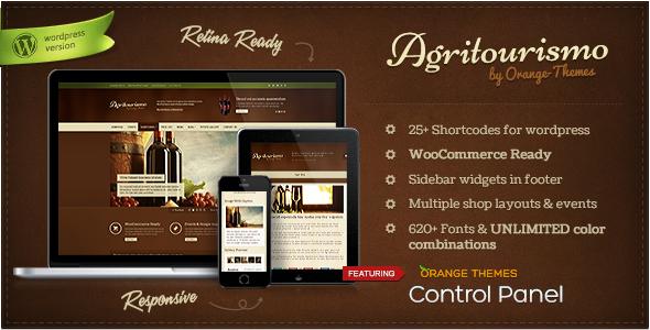 Agritourismo Wine WordPress Themes