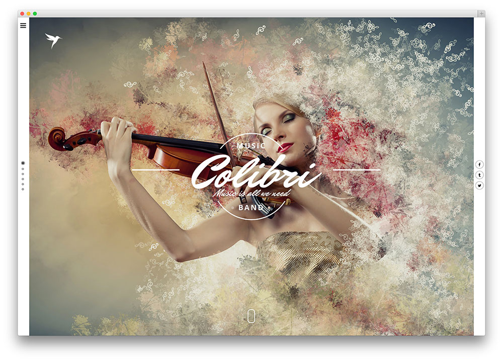 Colibri WordPress theme for Jazz Musicians