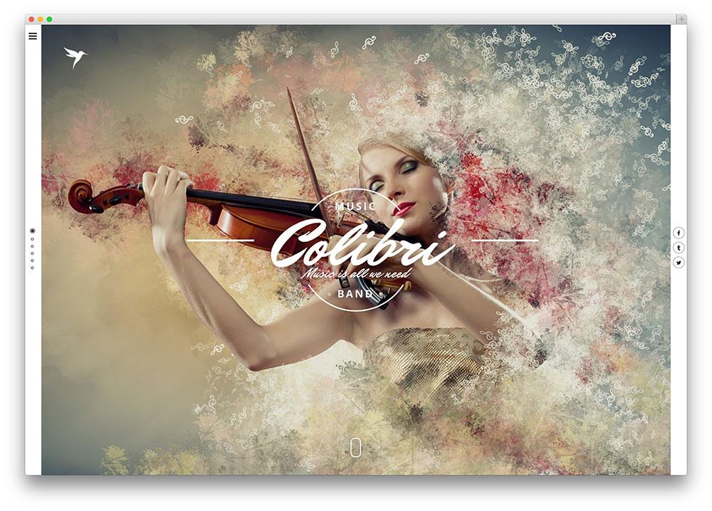 Colibri WordPress theme for Jazz Musicians
