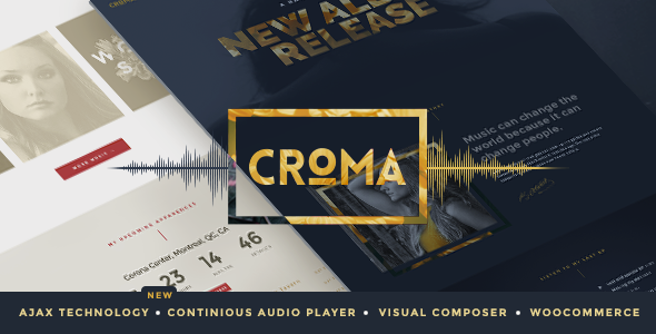 Croma wordpress theme for jazz musicians
