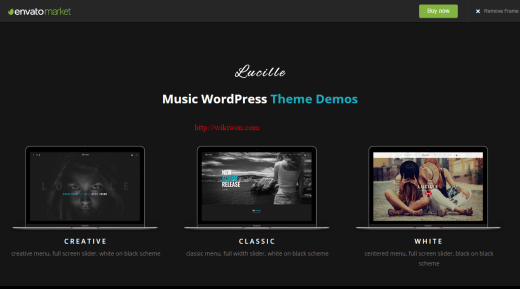 Lucille Musicians WordPress theme