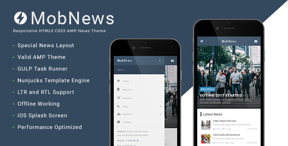 MobNews AMP News Template