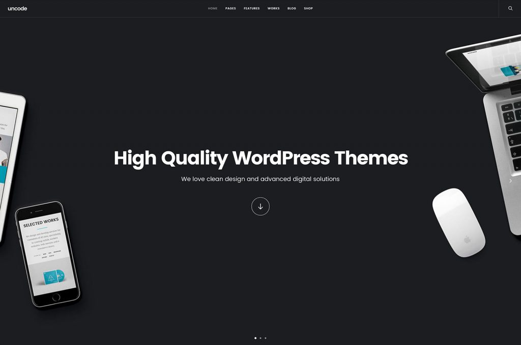 Uncode WordPress theme for Jazz Musicians