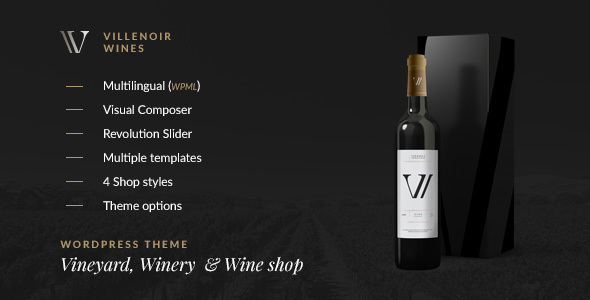Villenoir Wines WordPress Themes