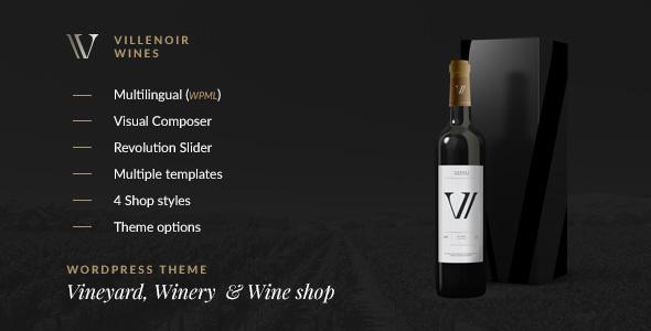 Villenoir Wines WordPress Themes