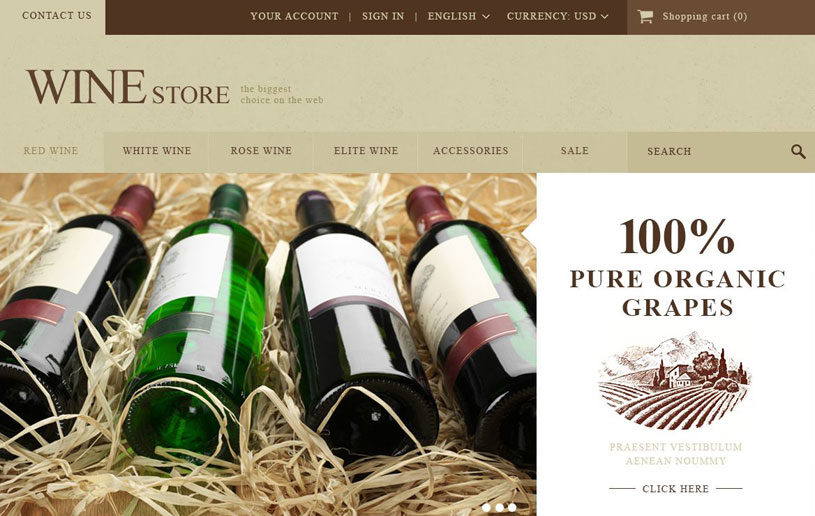 WineStore WordPress Themes