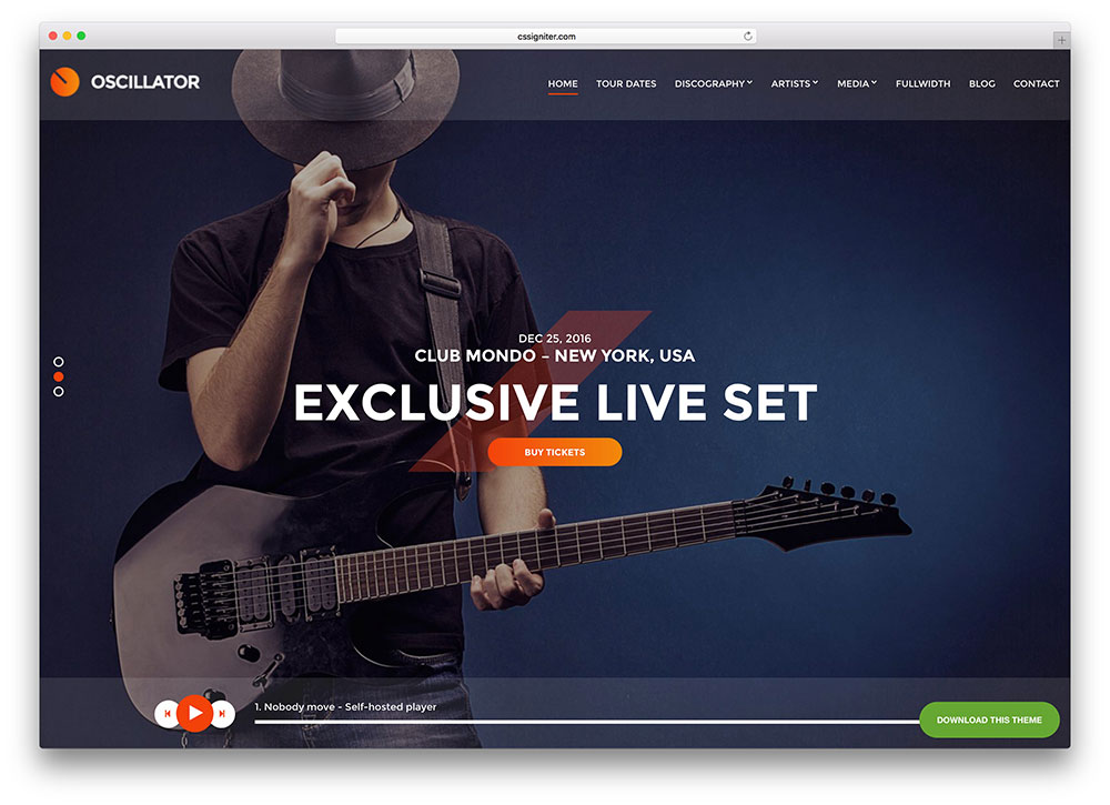 Jazz Musicians WordPress theme