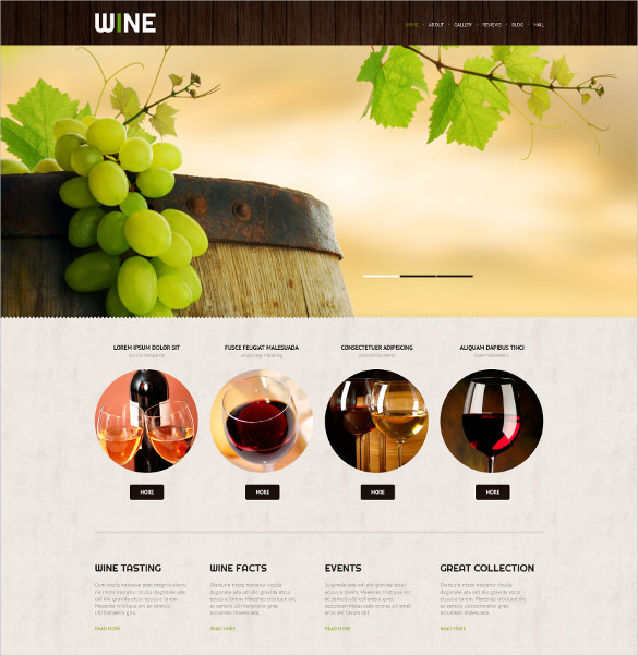 wine wordpress theme free