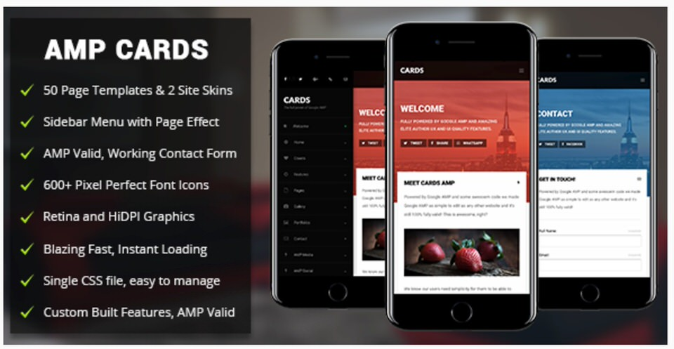 Amp WordPress Themes AMP Card Mobile Mobile Google AMP Template by Enabled ...