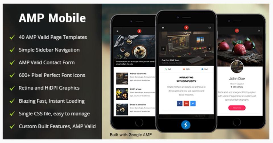 amp mobile mobile google amp template by enabled themeforest egrappler. Black Bedroom Furniture Sets. Home Design Ideas