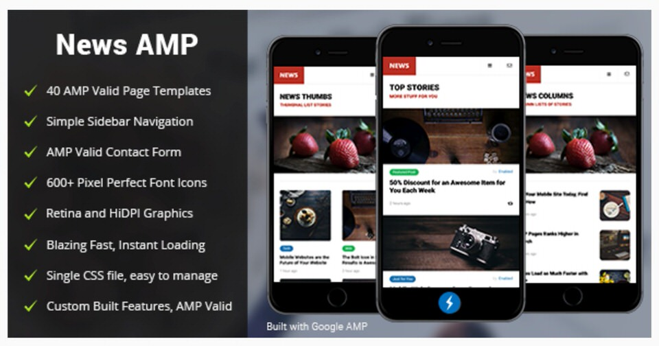 Amp News Mobile Google Template