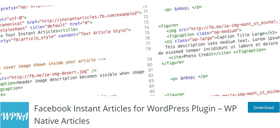 Facebook Instant articles for WordPress- WP Native Articles