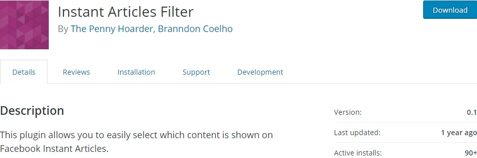 Instant Articles Filter