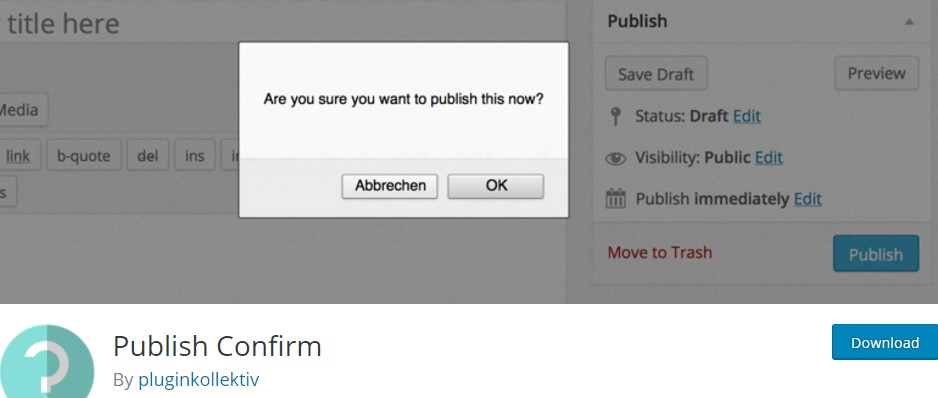Publish Confirm