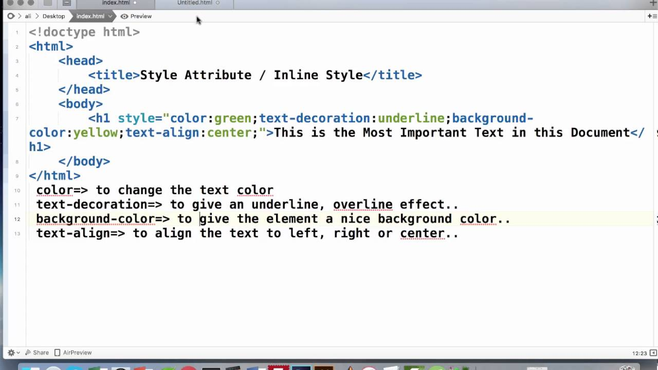 Inline Style Attributes