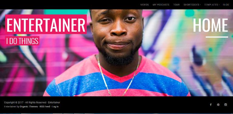 Entertainer WordPress theme