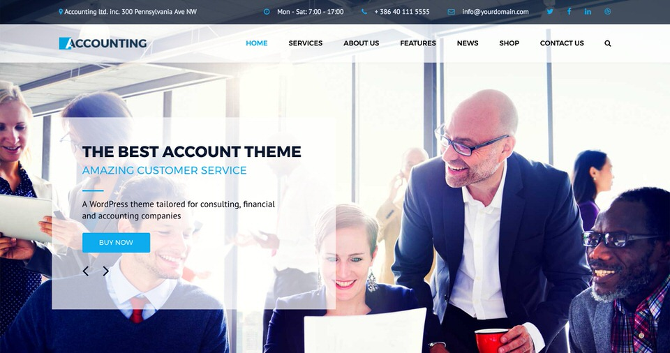 10 best wordpress themes for bookkeepers bookkeeping themes and this wordpress theme was developed specifically for accountants and bookkeepers but also works well for some financial industry business uses accmission Choice Image