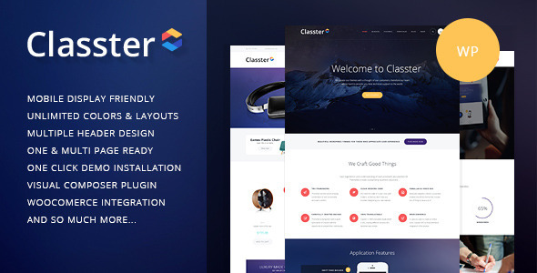 Classter | Multi-Purpose WordPress Theme