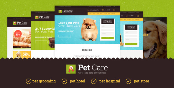 Pet Care   Grooming, Hotel, Hospital & Shop