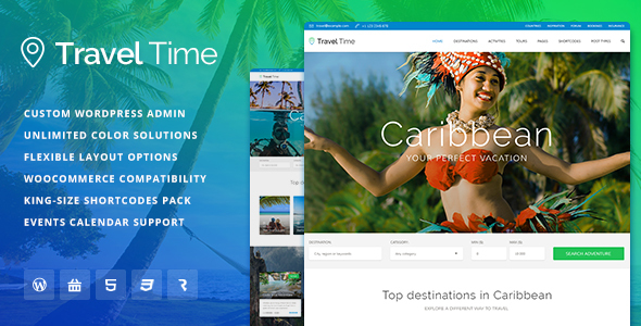 Travel Time - Tour, Hotel and Vacation Travel WordPress Theme
