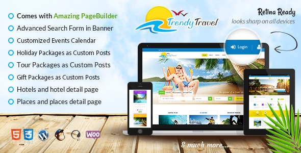 Trendy Travel - Tour, Travel & Travel Agency Theme