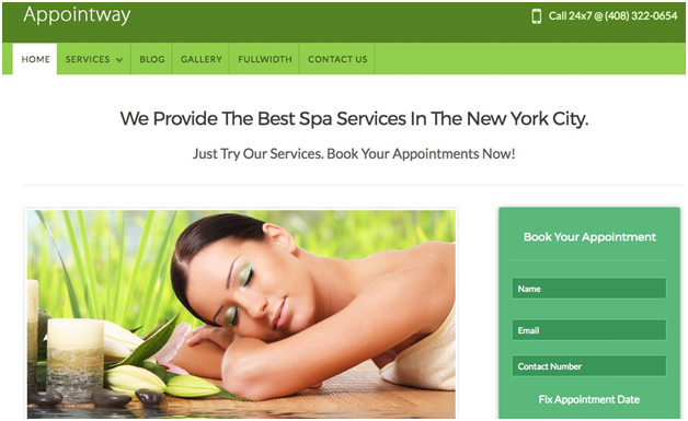 AppointWay Appointment Scheduler Theme by InkThemes