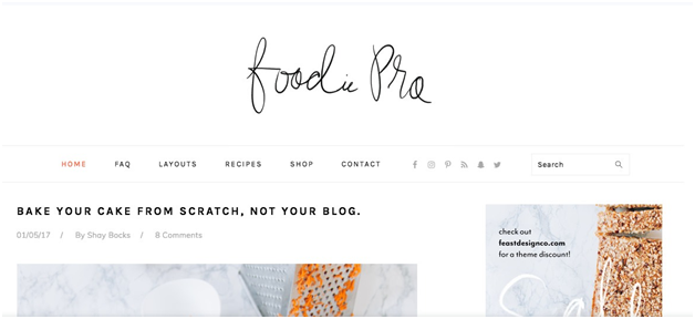 Foodie Pro Theme by StudioPress