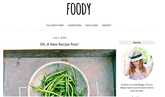 Foody WordPress Theme from Creative Market