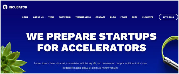 Incubator WordPress Startup Business Theme