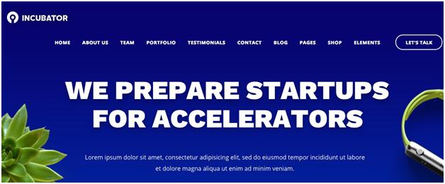 Incubator WordPress Startup Business Theme