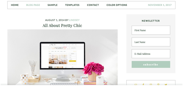 Pretty Chic Pro Theme by StudioPress