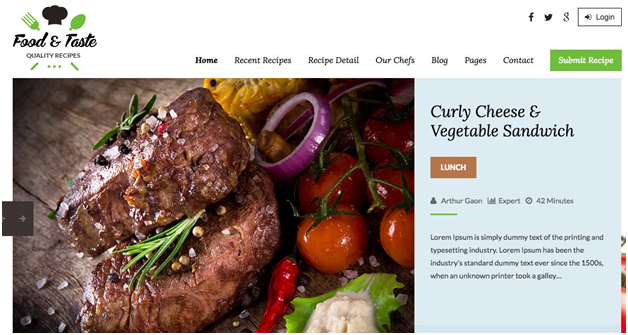 RecipePress – Food and Recipe Premium WordPress Theme