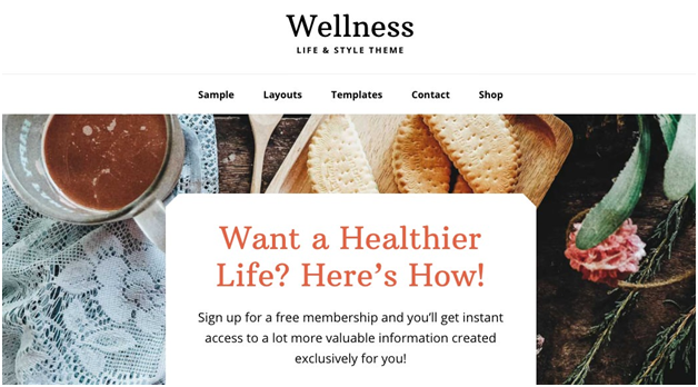 Wellness Pro Theme by StudioPress