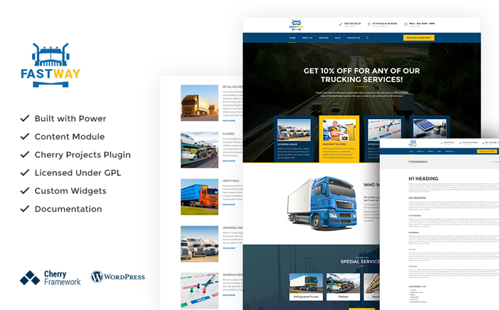 Trucking WP Theme