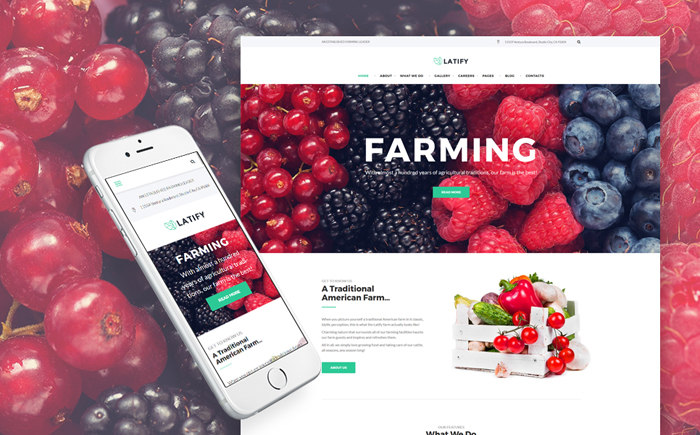 Farmer WordPress Theme