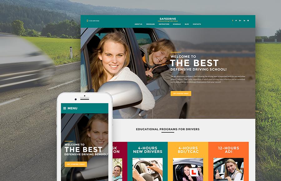 SafeDrive - Driving School Responsive WordPress Theme