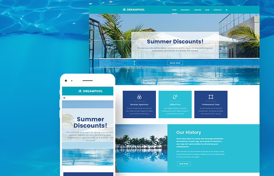 Pool Maintenance WordPress Theme