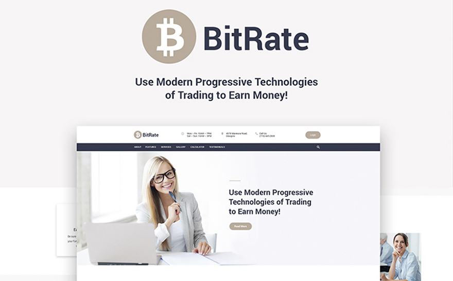 BitRate - Bitcoin WordPress Theme