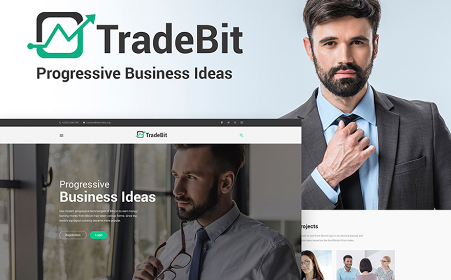 TradeBit - Bitcoin-Trading WordPress Theme