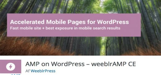 AMP on WordPress weeblrAMP CE