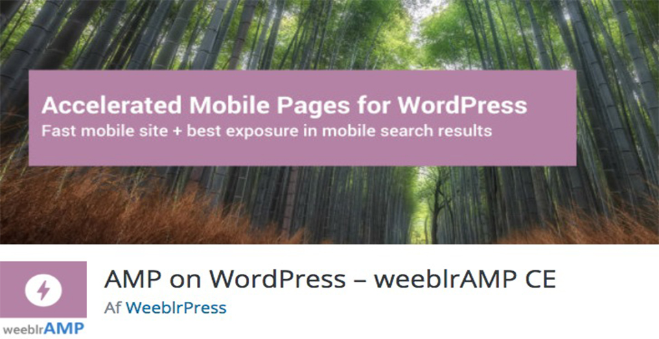 AMP on WordPress weeblrAMP CE