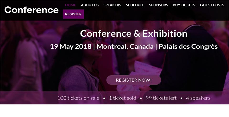 Conference WordPress Theme