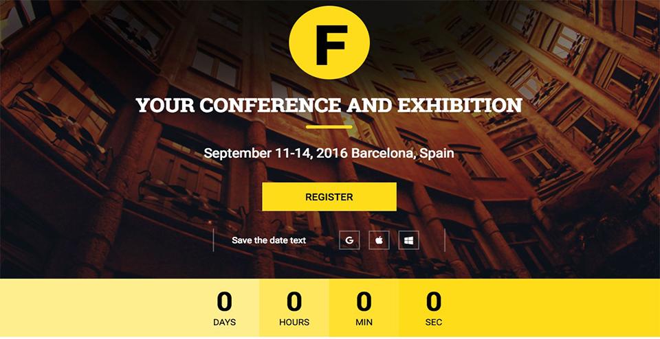FUDGE Premium Conference WordPress Theme