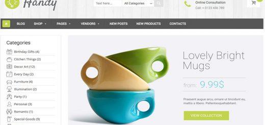 Handy - Handmade Shop WordPress Theme